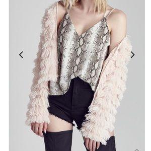 Blush shag jacket